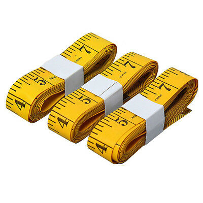 10X(3pcs Tape Measure 300cm/120 Inch Double-scale Soft Tape Weight Loss Me S4G5)
