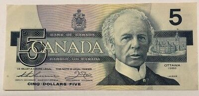 1986 - $5 Canada note - Canadian five dollar bill - FPC4505486