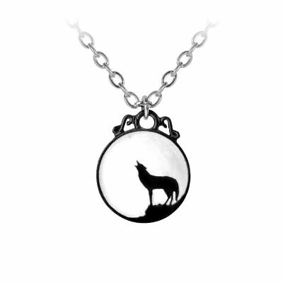 Alchemy Pewter Howling Moon Pendant Wolf