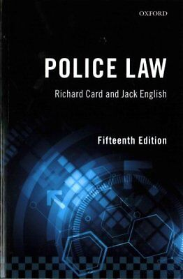 Police Law by Richard Card 9780198786801 (Paperback, 2017)