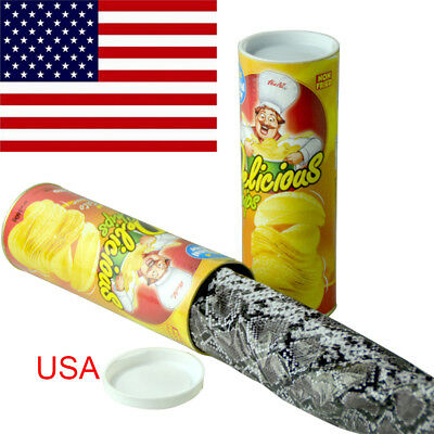 Trick Playing Potato Chips Toy Simulation Snake In A Can Gag Halloween Prank USA