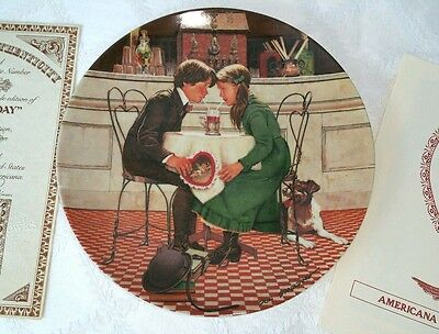 Knowles Valentine Plate 4 issue Americana Holidays Collection 1981 Don Spaulding