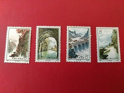 Chinese Stamp Set Red Flag Canal 1972