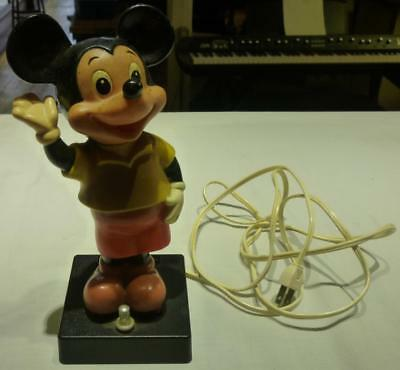 Vintage Walt Disney Productions Mickey Mouse Bobblehead Lamp, Not Working.