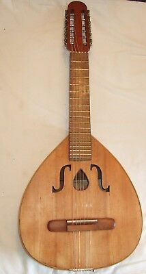 Spanish Laude or Portuguese guitar in good playing order & condition cw case