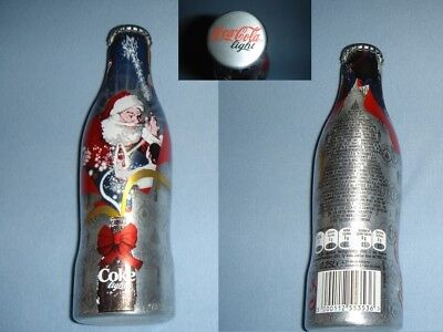 Coca Cola light X-mas/Santa 2007 ALU Flasche/bottle/bouteille/bottiglia RARE