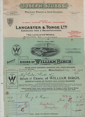 Manchester  Machine  Manufacturers  Invoices.