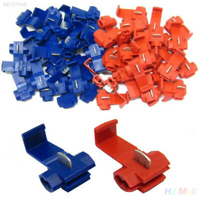 20Pcs Red Blue Scotchlocks Snap On Connector Splicer Terminal Lock Quick Sp
