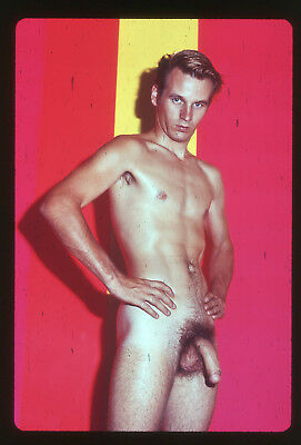 # 13 OLD 35mm PHOTO SLIDE UNKNOWN STUDIO NUDE MALE BODYBUILDER MAN PHYSIQUE GAY