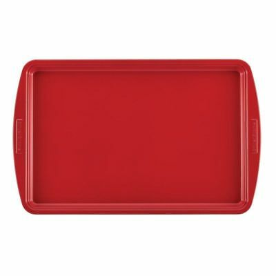 "Silverstone Bakeware Nonstick 11"" x 17"" Baking Sheet in Chili Red"