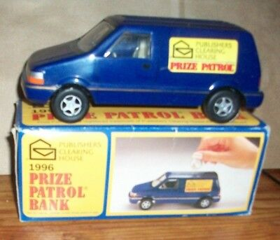 PUBLISHERS CLEARING HOUSE Pch Prize Patrol Bank~Blue Van~Sweepstakes Promo