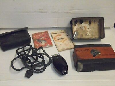 1930's Packard Lektro Shaver with Original Box, Cord, Case, Manual & Paperwork