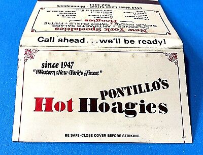 "Vintage ""Pontillo's Restaurant"" Full Matchbook Minneapolis, Minnesota"