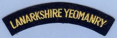 British Army Repro Shoulder Title Patch LANARKSHIRE YEOMANRY