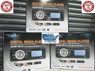 Aquatic AV 72W x 4 Bluetooth MP3 AUX Replacement Radio for Harley 98-13 IN STOCK