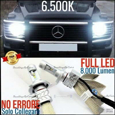 SET Lamps LED lights H4 Mercedes CLASS G W460 463 461 6500K CANBUS bianco ice
