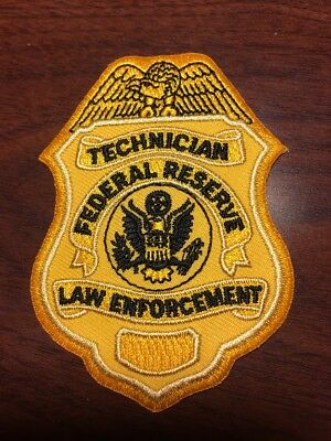Federal Reserve Law Enforcement Technician Special Agent Police Patch