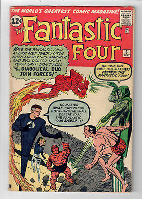FANTASTIC FOUR #6 - Grade 5.0 - Doctor Doom & Sub-Mariner Team Up!