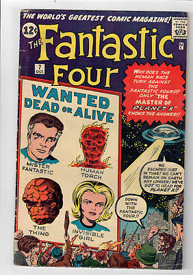 FANTASTIC FOUR #7 - Grade 5.0 - First appearance of Kurrgo! Jack Kirby!