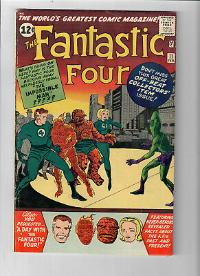 FANTASTIC FOUR #11 - Grade 5.0 - First appearance of the IMPOSSIBLE MAN!