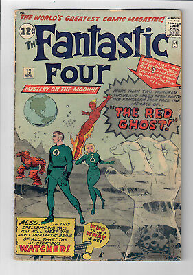 FANTASTIC FOUR #13 - Grade 4.0 -  First appearance of the WATCHER & RED GHOST!