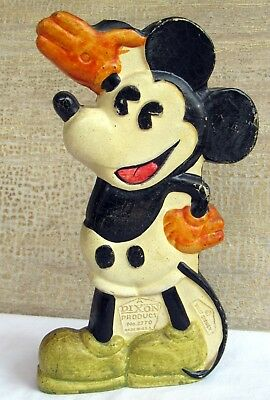 1920's 1930's Figural Mickey Mouse Pencil Holder by Dixon Products