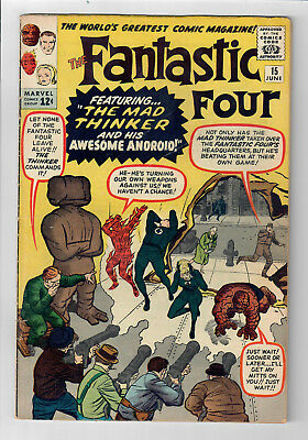 FANTASTIC FOUR #15 - Grade 6.0 -  First appearance of the MAD THINKER!