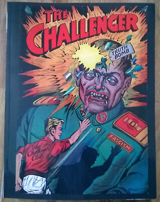 The CHALLENGER anti-fascist 1 2 3 4 golden age reprint WWII Hitler IS BAD Kubert