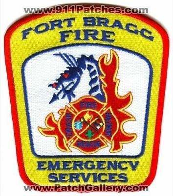 Fort Bragg Fire Department Emergency Services US Army Military Patch North Carol