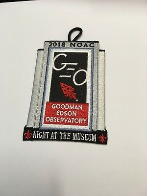 Goodman Edson Observatory, Night at the Museum Patch, NOAC 2018, Brand New