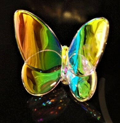 Perfect Exquisite BACCARAT Iridescent Scarabee Crystal Papillon Lucky Butterfly