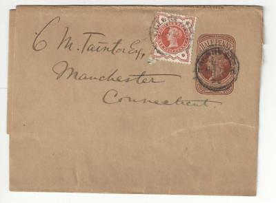 1893 Great Britain To USA Postal Stationary With Scott # 111 (BP55)