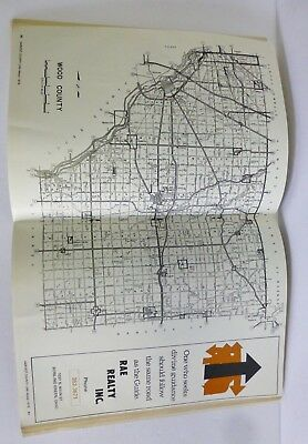 Wood County Ohio Atlas Map 1978 Directory Phone Numbers Addresses Advertising