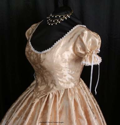 MADE TO ORDER   1800's Reenactment  Civil War Ball Gown Corset Bodice Skirt