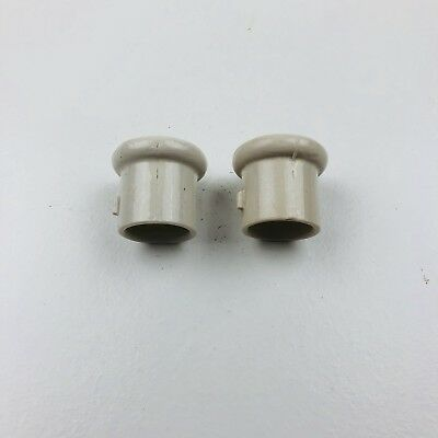 Pair of Ceramic Side Tab Insulators For Lightning Rod