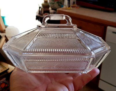 19thc EAPG Bryce Derby or Pleat & Panel covered oblong serving dish 8""