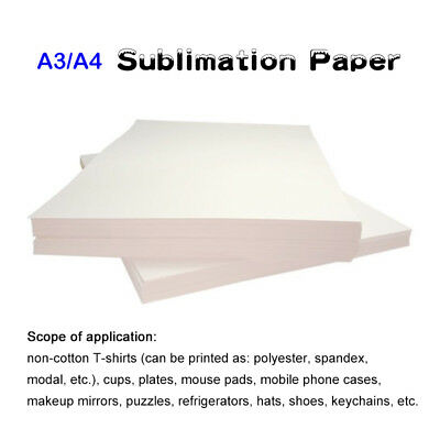 20 Sheets A3 Dye Sublimation Heat Transfer Paper for Polyester Cotton T- Shirt