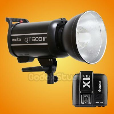 Godox QT-600IIM 600W 2.4G Studio Strobe Flash Light + X1T-C Transmitter 100-120V