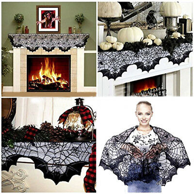 Creative Novelty Halloween Spiderweb Tablecloth Lights Scary Haunted House