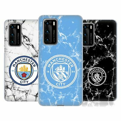 Manchester City Man City Fc 2017/18 Marble Badge Soft Gel Case For Huawei Phones