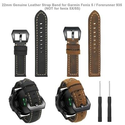 Genuine Leather Strap Watch Wrist Band for Garmin Fenix 5/5 Plus/Forerunner 935