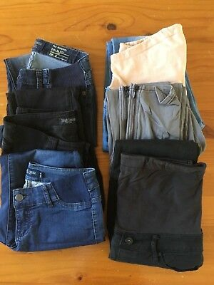 6x maternity jeans size 8, incl Jeanswest and Just Jeans