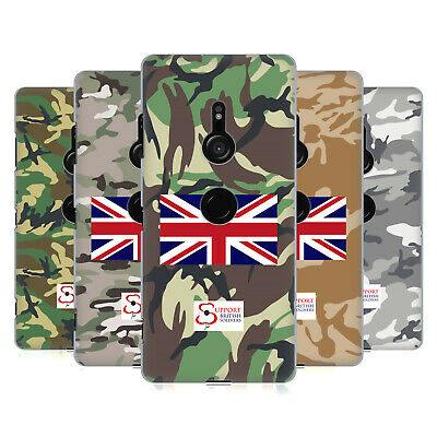 Official Support British Soldiers Camo Hard Back Case For Sony Phones 1