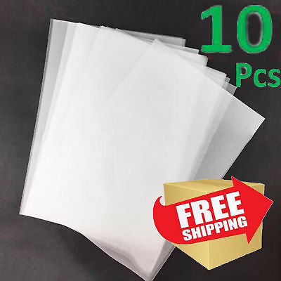 10x Heat Shrink Shrinkable Shrink Paper Film Sheets Jewelry Keyring Charms Art