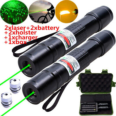 High Power 18650 Green Laser Pointer Pen Kits 1mW Waterproof+ Battery+Charger
