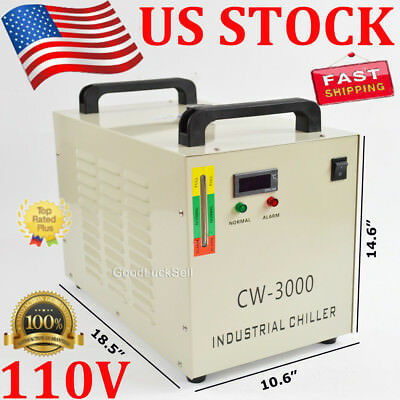 CW-3000 Industry Air Water Chiller CO2 Laser Engraving Cutting Machine 110V USA