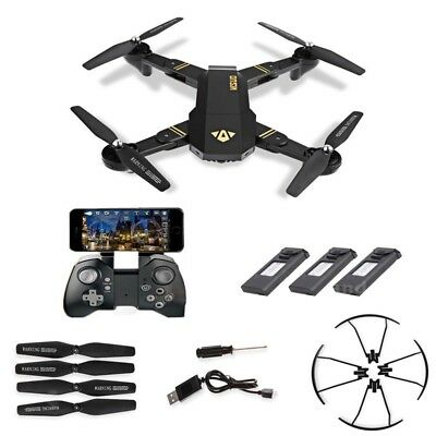 VISUO XS809HW RC Wifi FPV 2.0MP 2.4Ghz 6-axis Quadcopter Drone + Extra 2 Battery