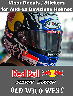 Visor Decals Stickers for Andrea Dovizioso Helmet