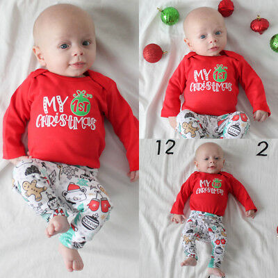 AU Canis Toddler Baby Boys Girls Romper Bodysuit Jumpsuit Pants Hat Outfit XMAS