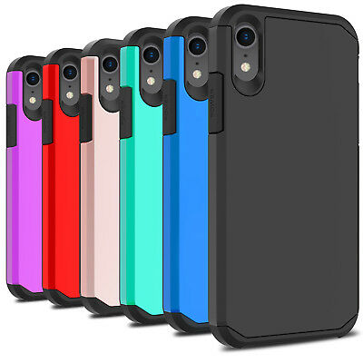 For iPhone XR Case Shockproof TPU Hybrid Rugged Armor Dual Layer Phone Cover